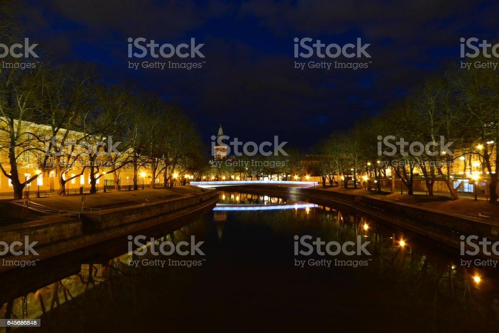 Turku by Night stock photo