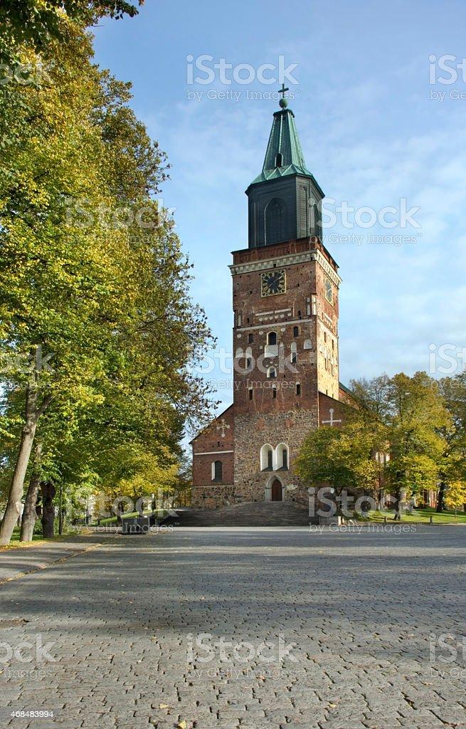 Turku Cathedral. Finland stock photo