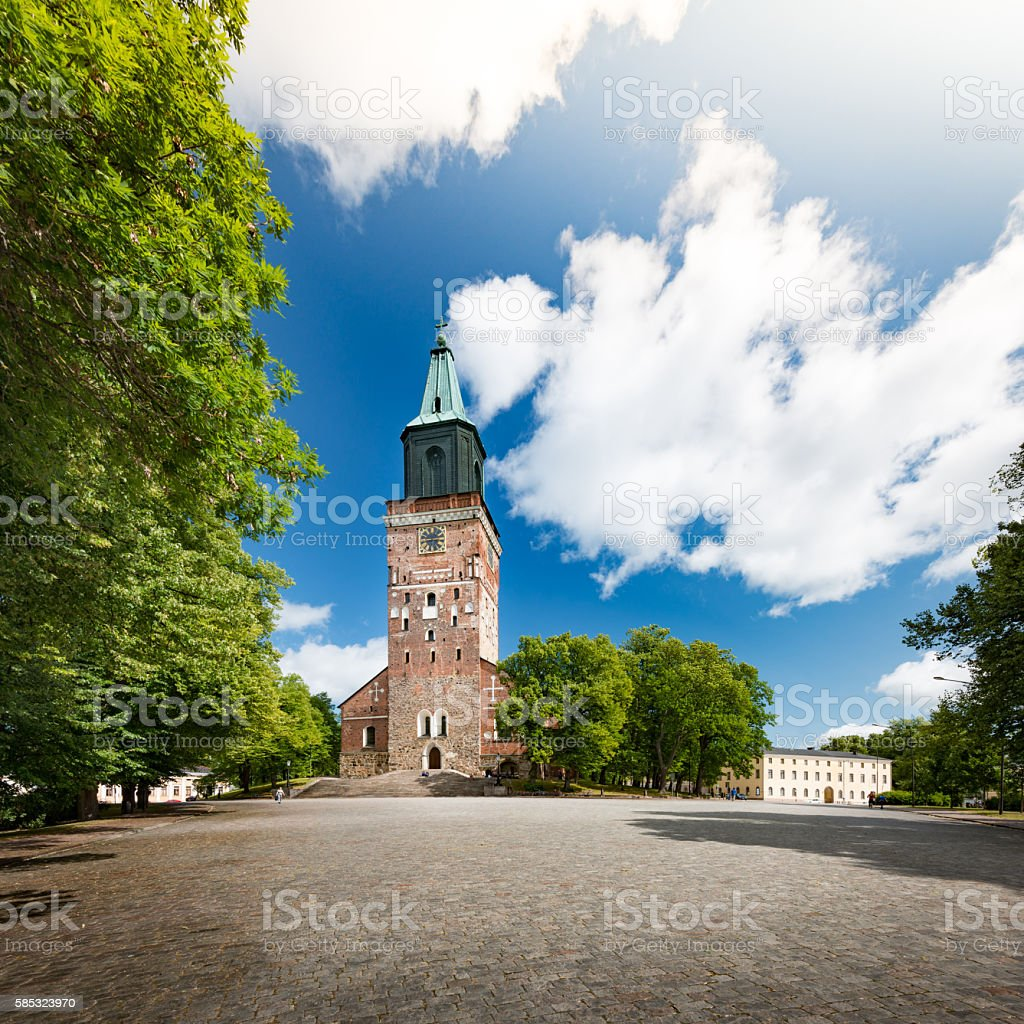 Turku Cathedral on sunny day stock photo
