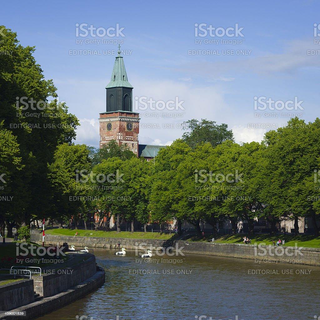 Turku Finland summer stock photo
