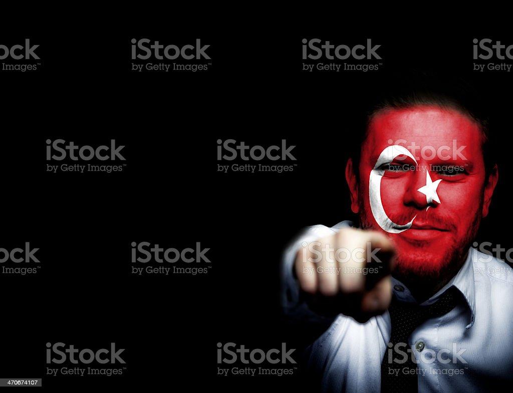 Turky Sport Soccer Fan royalty-free stock photo