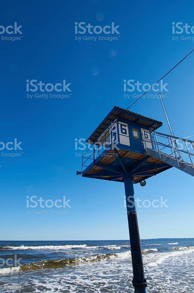 Turm der Wasserwacht stock photo