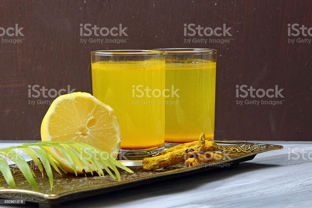 Turmeric drink stock photo