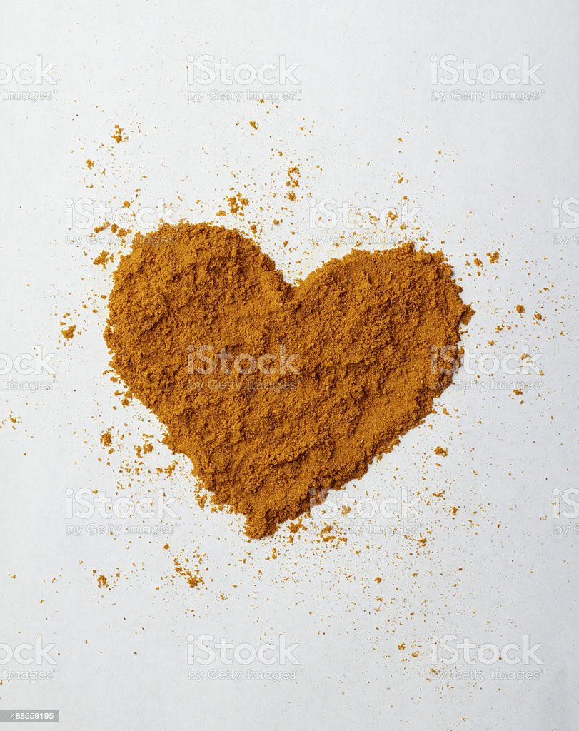 Turmeric heart stock photo