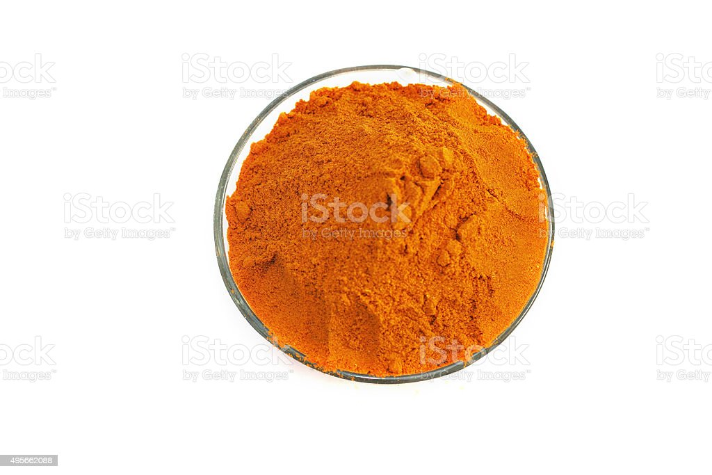 Turmeric Isolated On White stock photo
