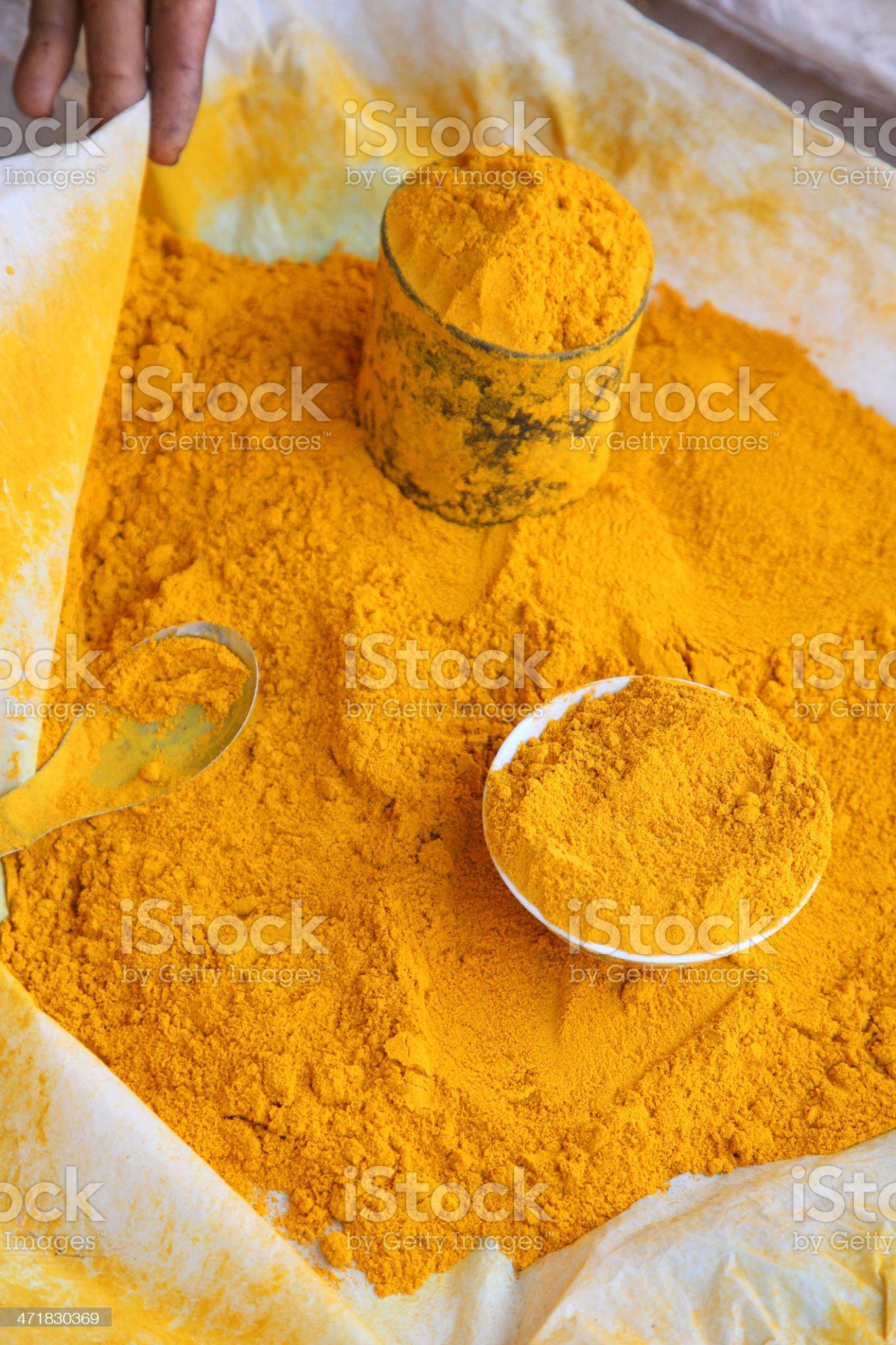 turmeric powder from vegetable market. royalty-free stock photo