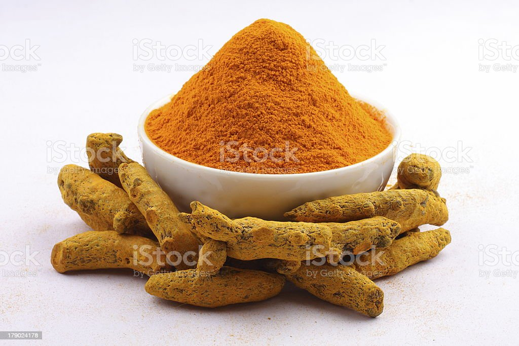 Turmeric powder. royalty-free stock photo