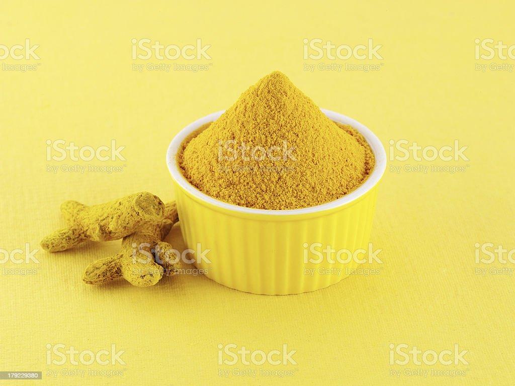 Turmeric powder royalty-free stock photo
