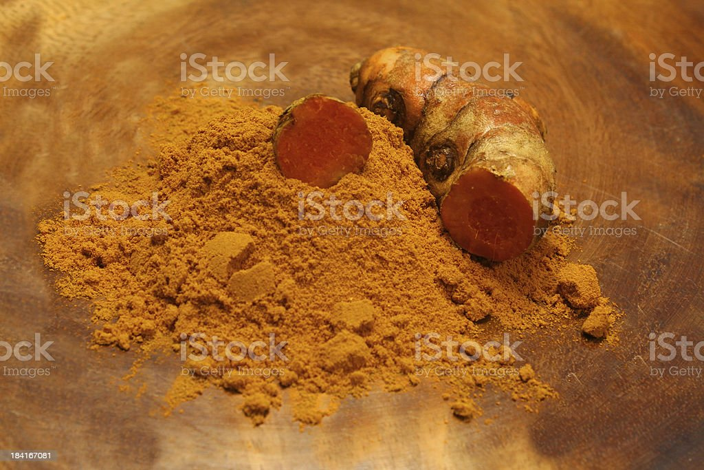 turmeric powder royalty-free stock photo