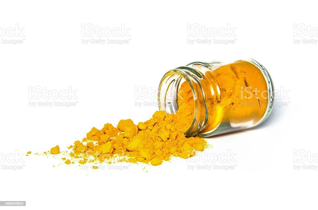 Turmeric spice powder stock photo