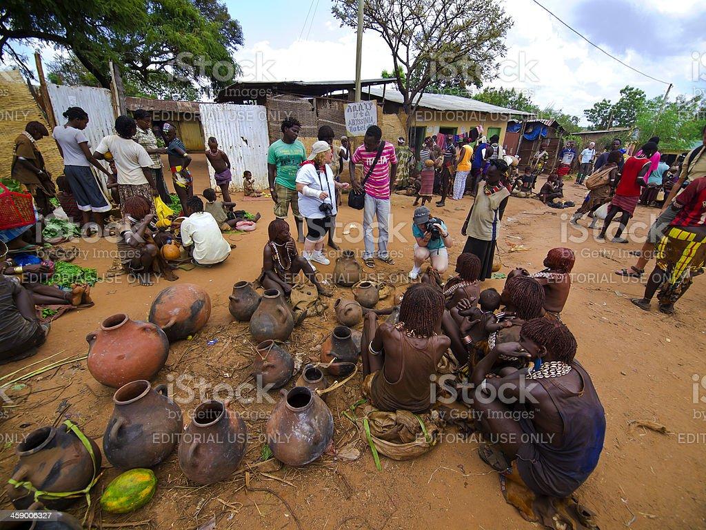 Turmi market stock photo