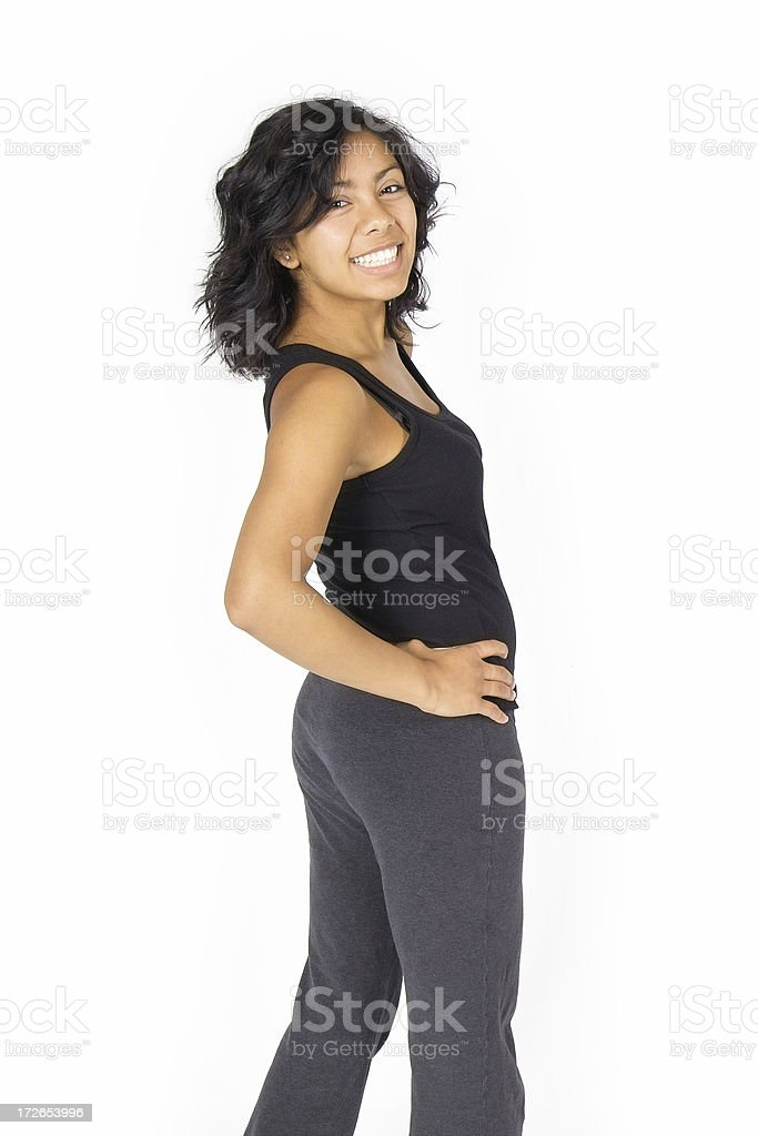 Turn and Smile stock photo