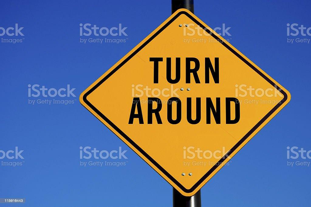 Turn Around stock photo
