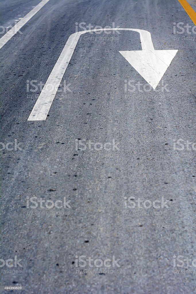 Turn arrow stock photo