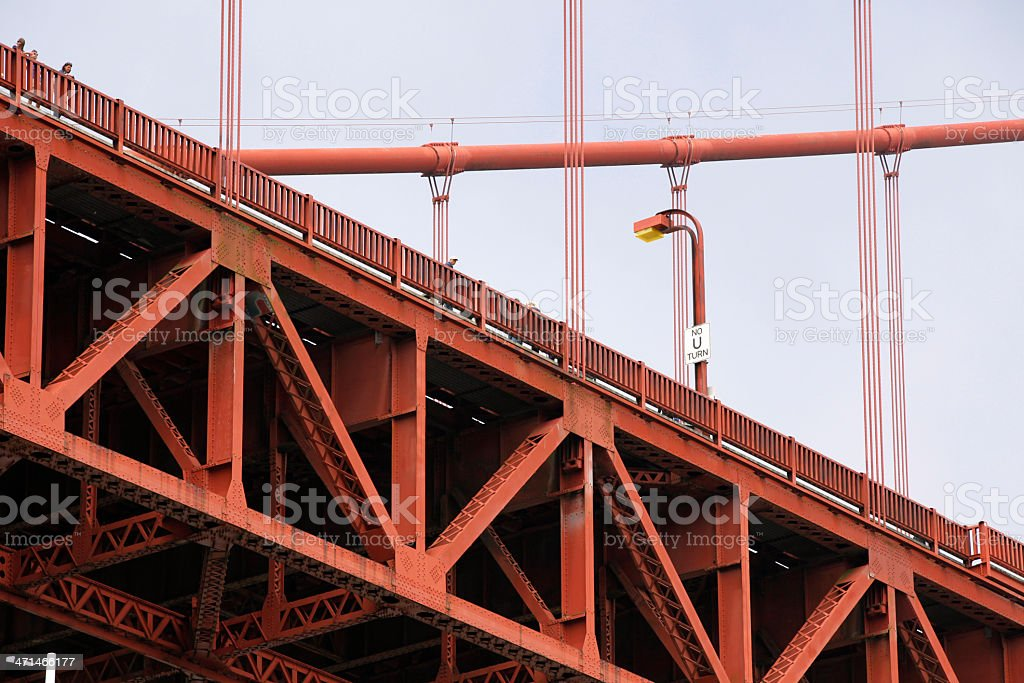 U Turn Bridge royalty-free stock photo