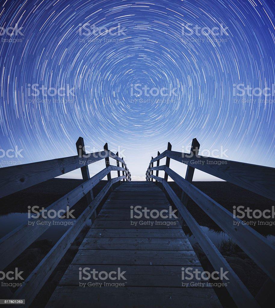 Turn into the Night stock photo