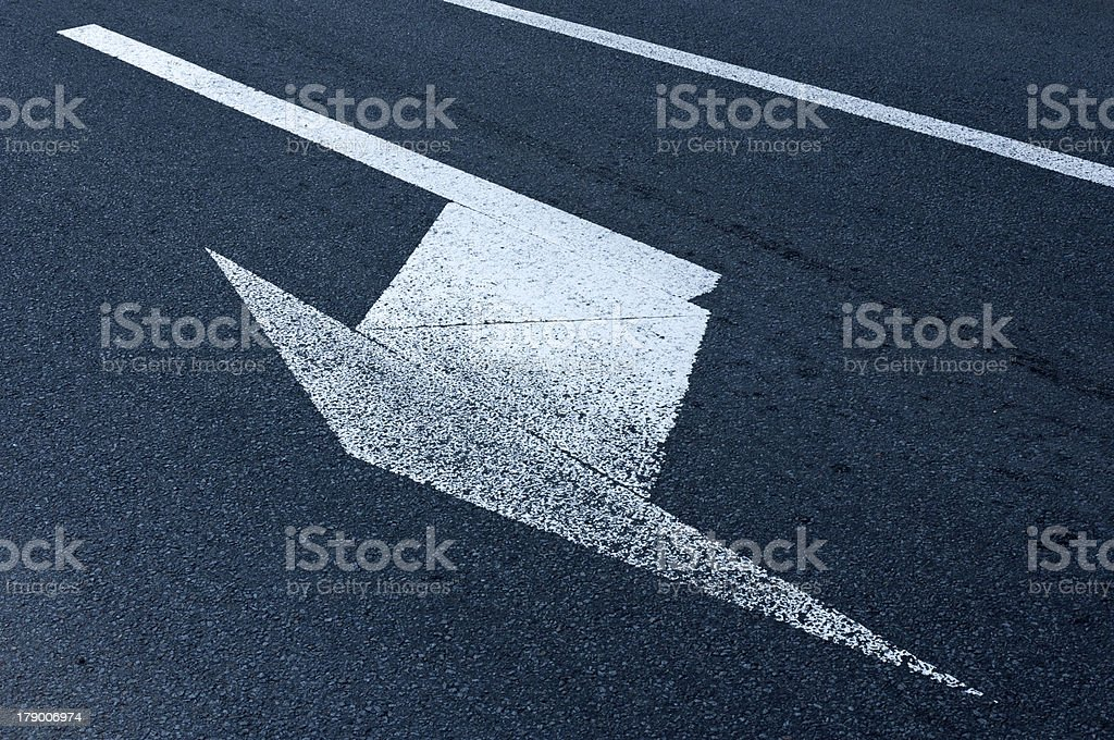 Turn left royalty-free stock photo