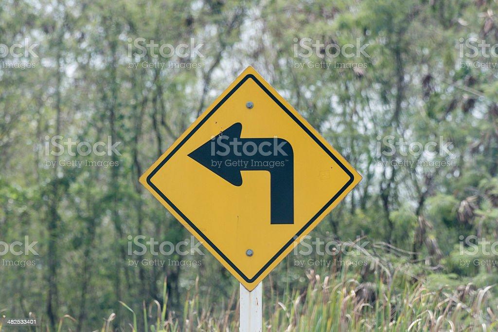 Turn Left stock photo