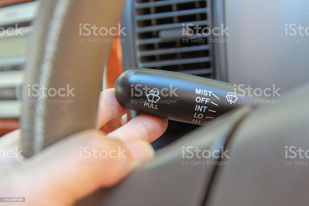 turn of Wiper Switch stock photo