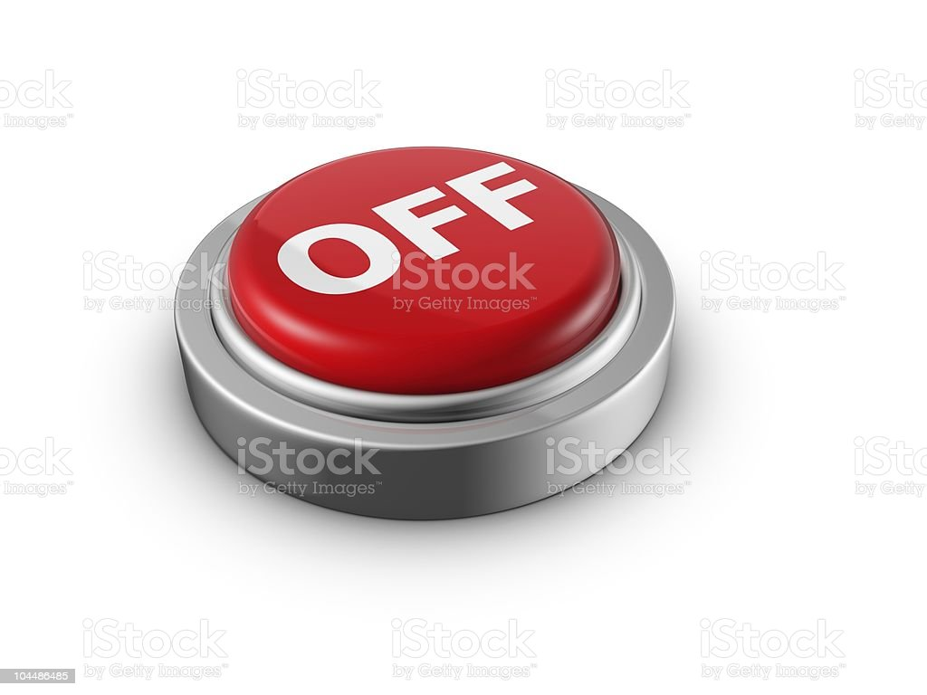 Turn off power push button environmental concept royalty-free stock photo