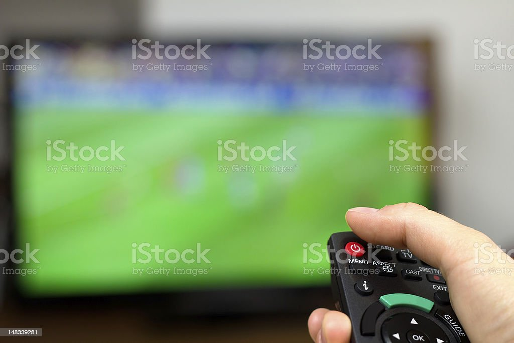 Turn off TV stock photo