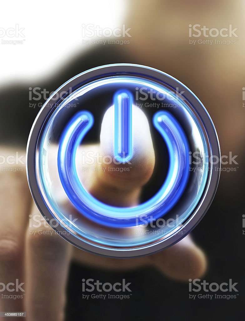 turn on stock photo