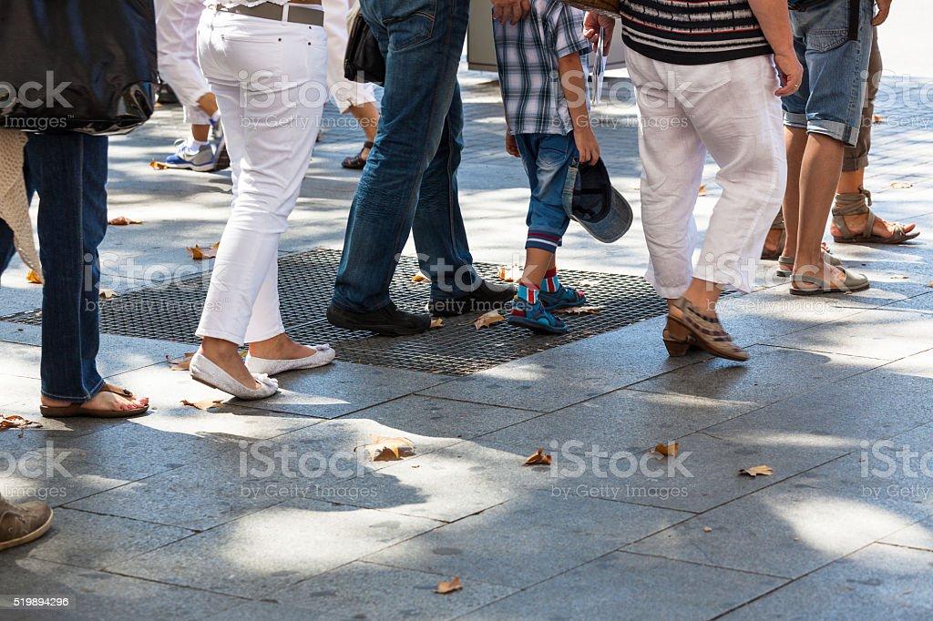 turn on sidewalk stock photo