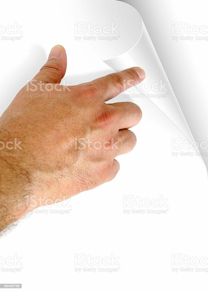 Turn Page royalty-free stock photo