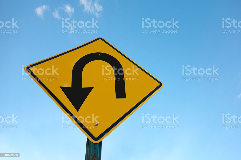 U turn stock photo