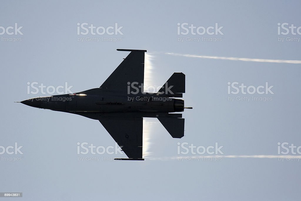 F-16 Turn royalty-free stock photo