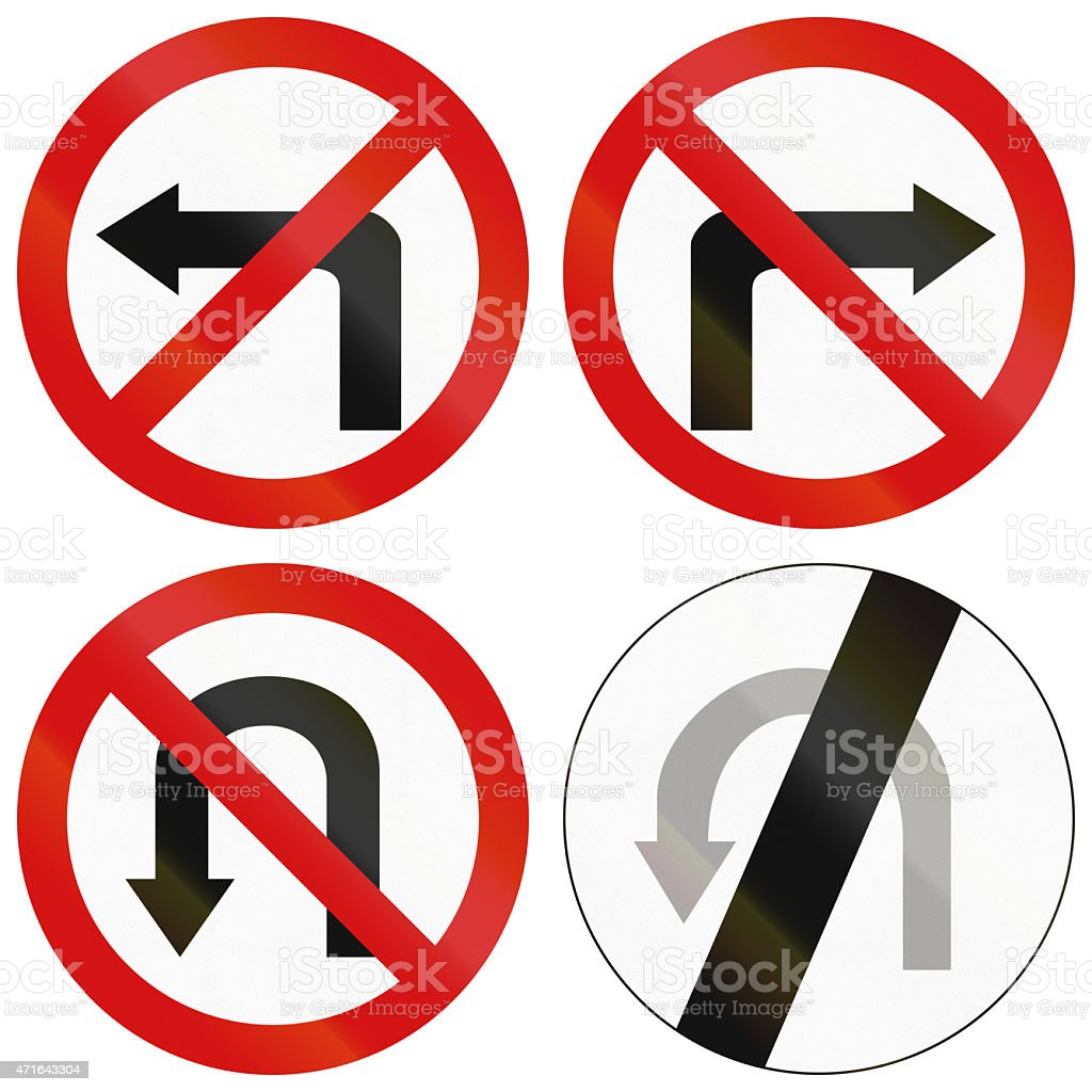Turn Prohibitions In Poland stock photo