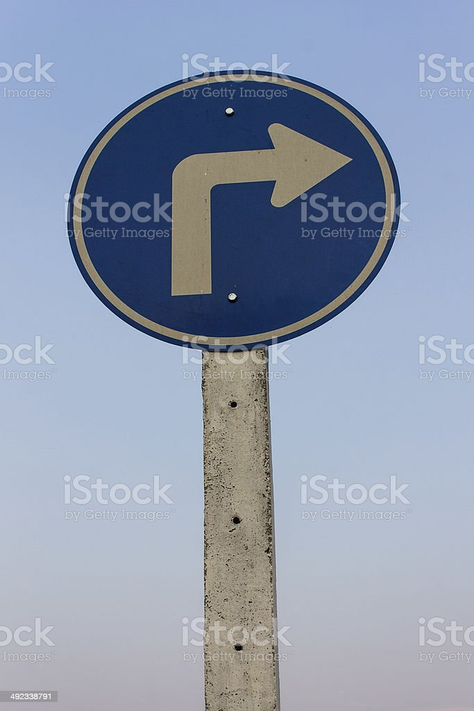 Turn right, Signs royalty-free stock photo