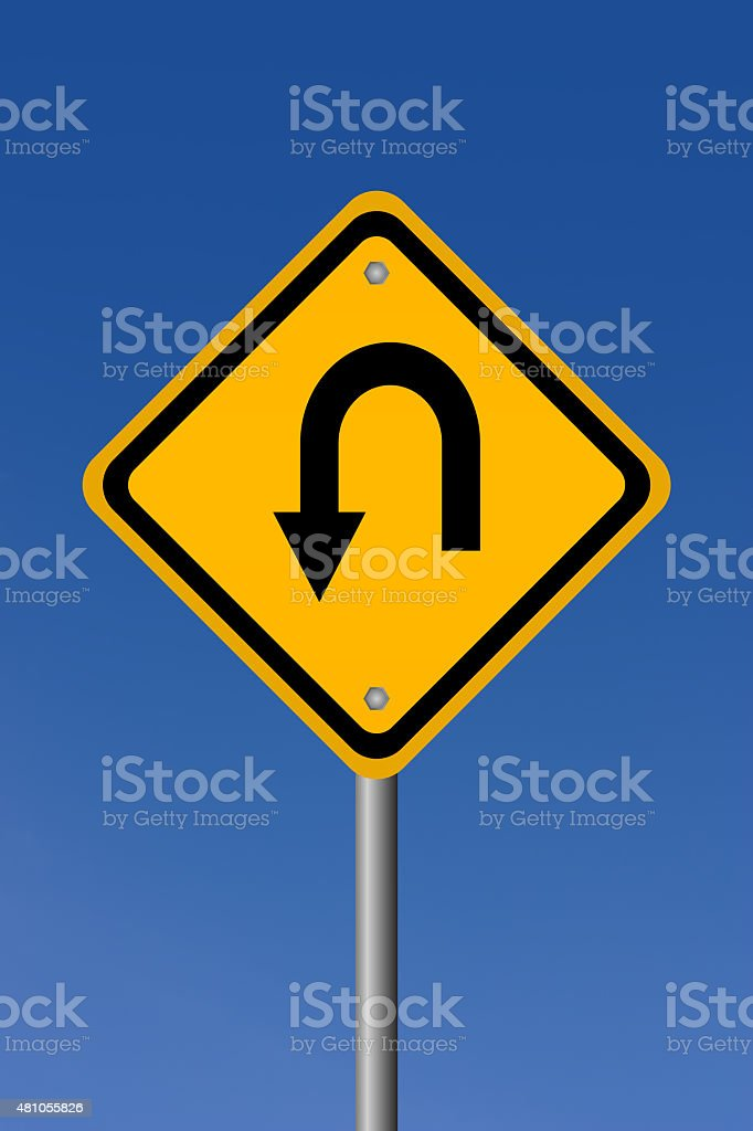 Turn road sign stock photo