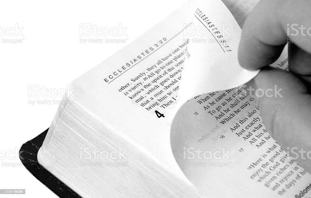 Turn The Page stock photo