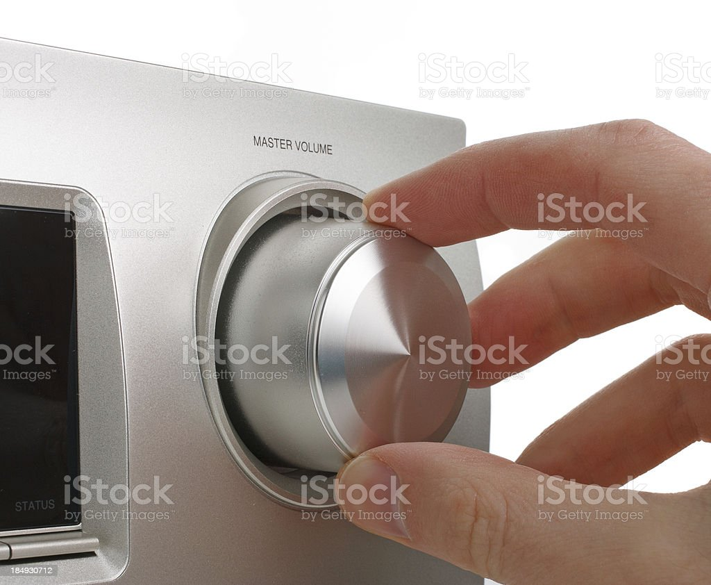 Turn The Volume Up royalty-free stock photo