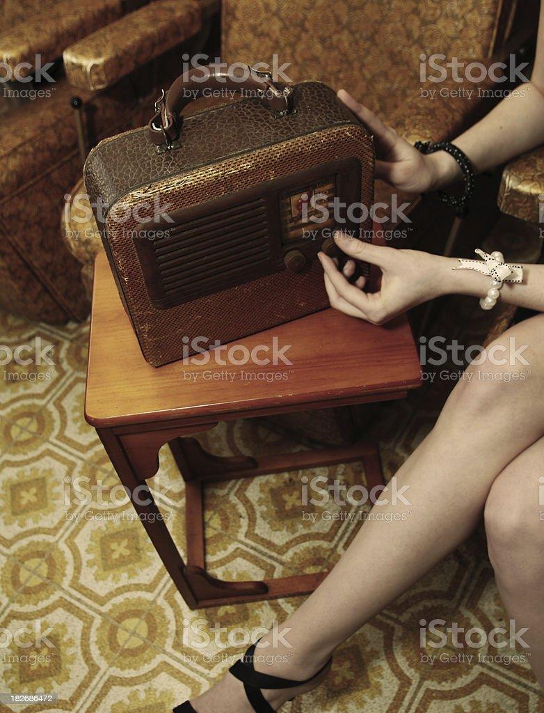 Turn Up That Radio royalty-free stock photo