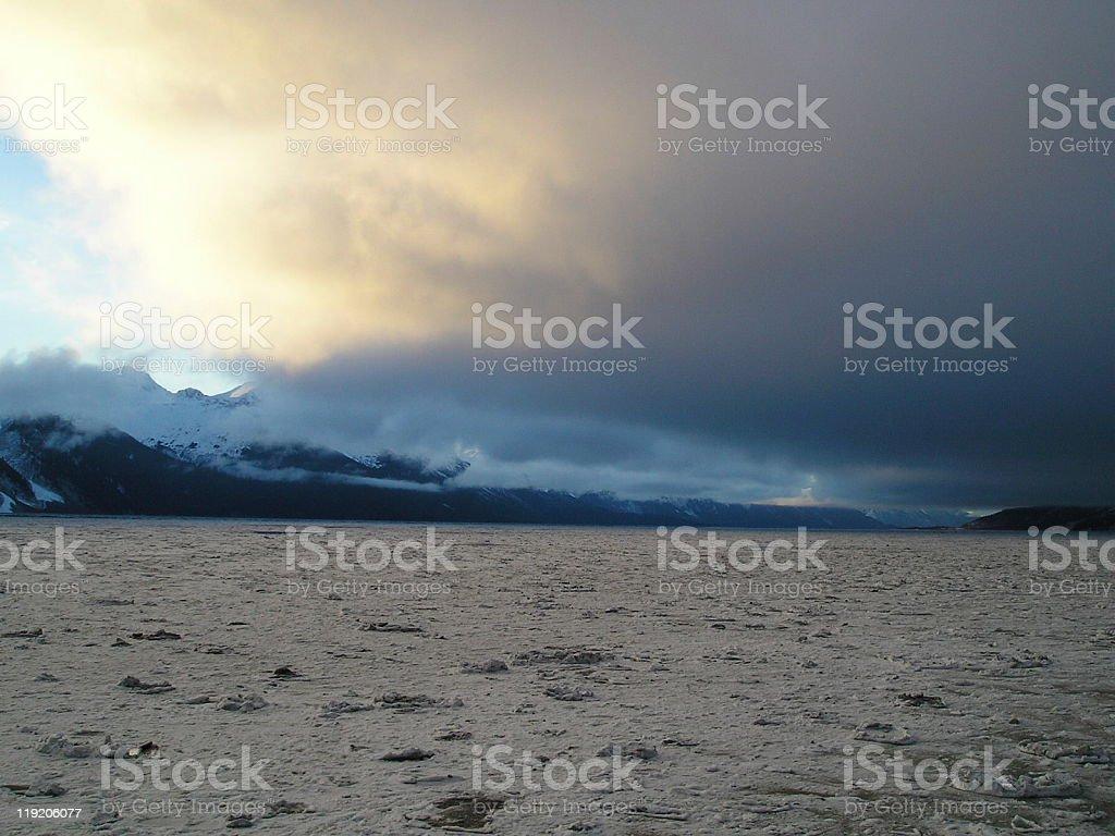 Turnagain Arm in Alaska stock photo