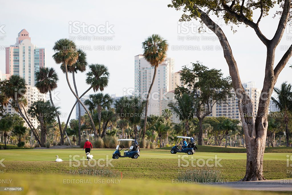 Turnberry Golf Course in Aventura, Miami suburb, Florida stock photo