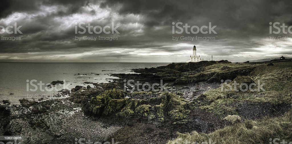 Turnberry Lighthouse HDR Panorama stock photo