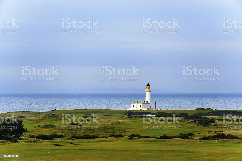 Turnberry lighthouse in Scotland stock photo