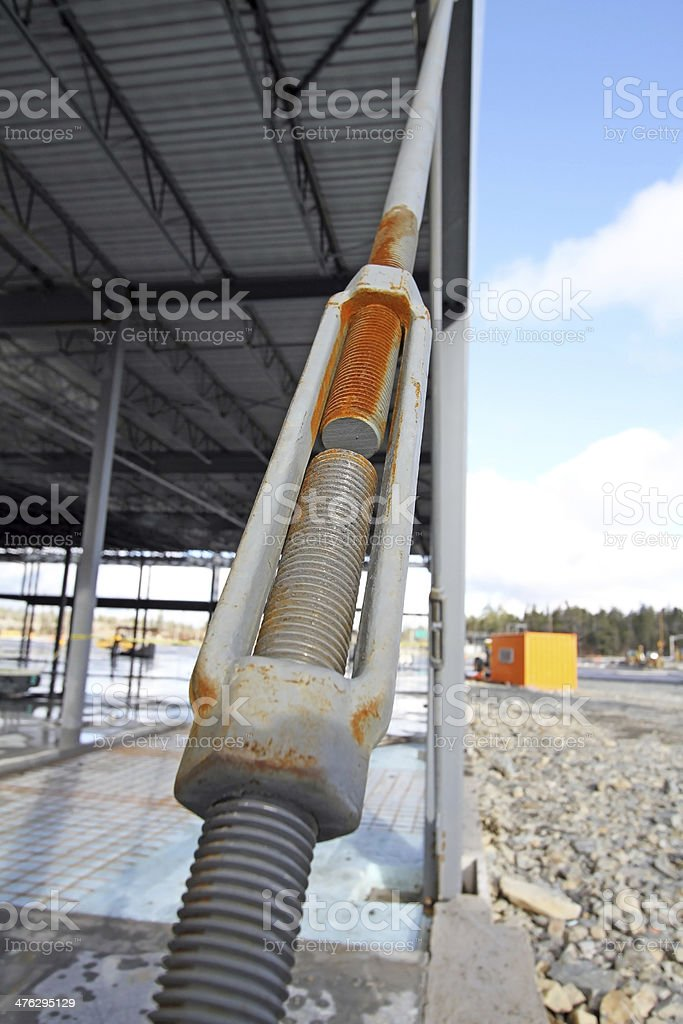 Turnbuckle In Use stock photo