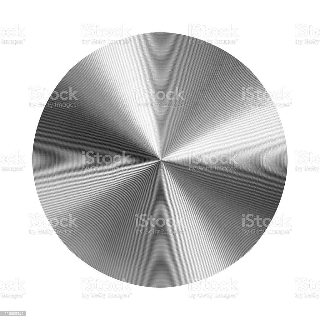 turned metal disc stock photo