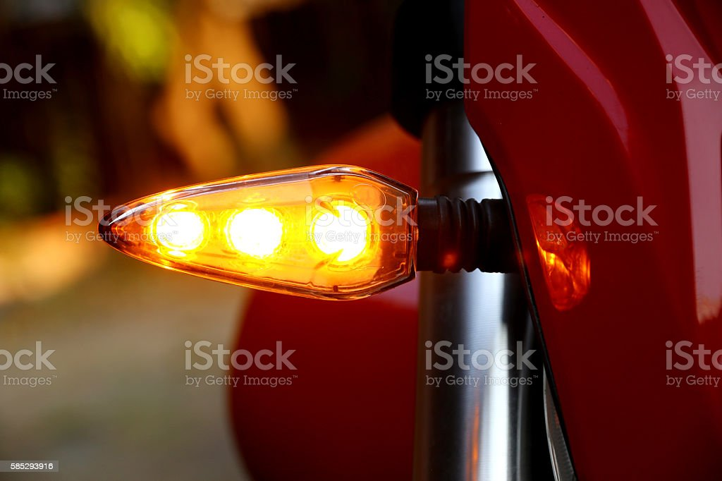 Turning a motorcycle stock photo