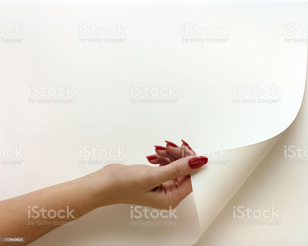 Turning a Page royalty-free stock photo