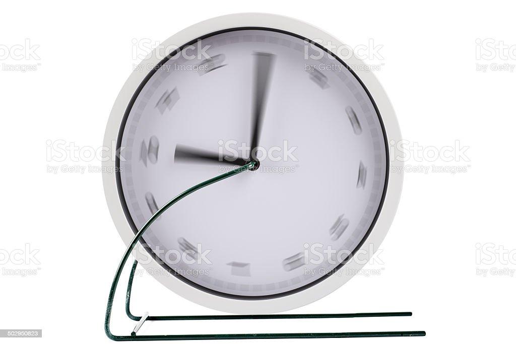 turning clock as treadmill stock photo