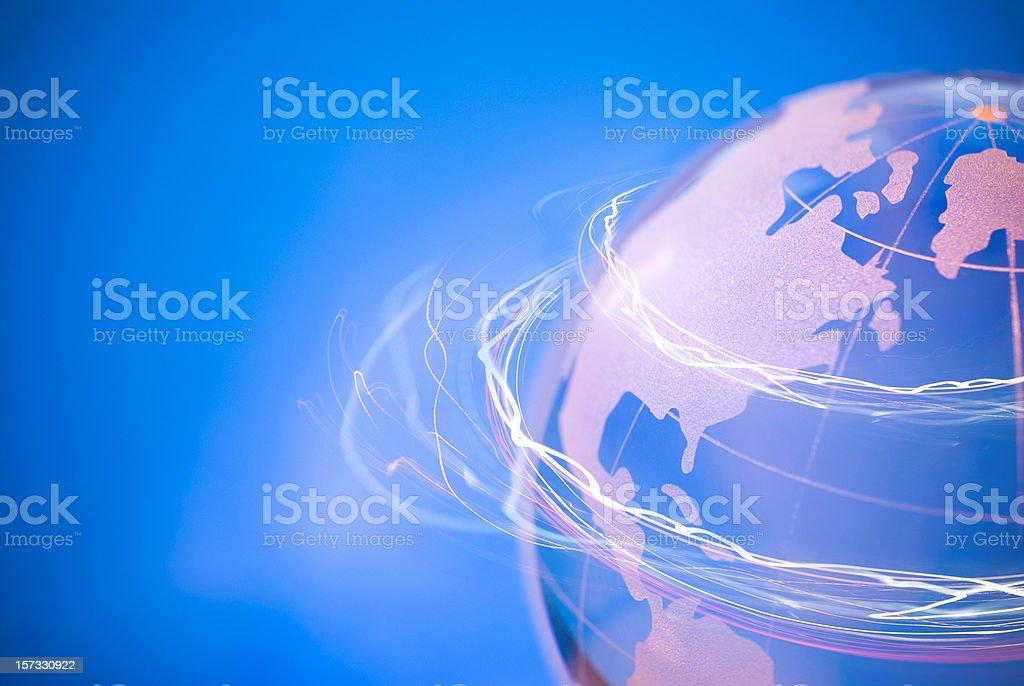 Turning Globe royalty-free stock photo
