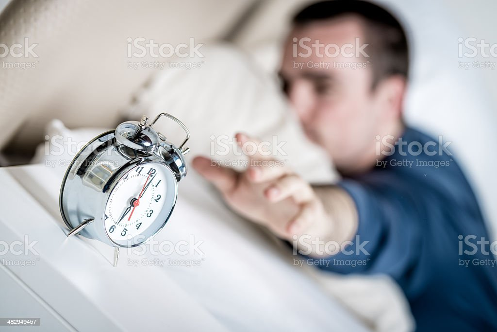 Turning off stock photo