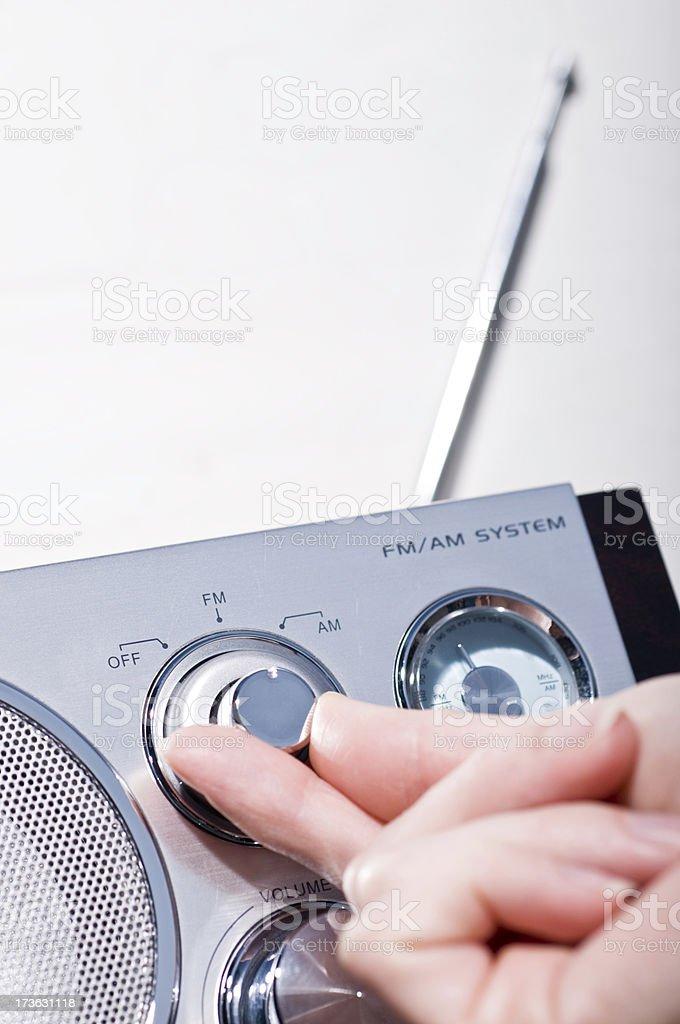 Turning on the radio royalty-free stock photo