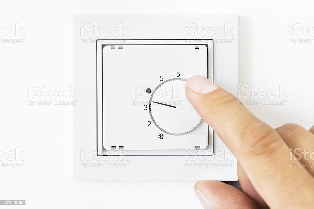 Turning On/Off Air Condition stock photo