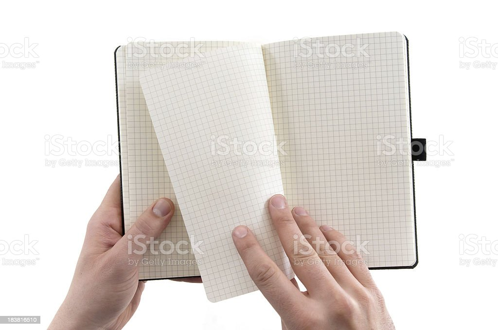 turning page for new beginning royalty-free stock photo